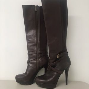 KORS by Michael Kors tall brown leather boot